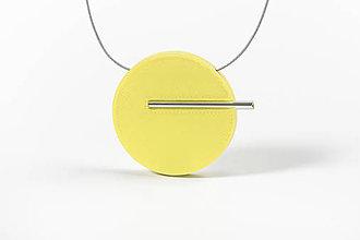 Náhrdelníky - Minimal náhrdelník (Žltá) - 11591182_