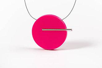 Náhrdelníky - Minimal náhrdelník (Ružová) - 11591193_
