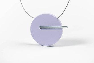 Náhrdelníky - Minimal náhrdelník (Fialová) - 11591195_