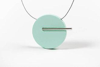 Náhrdelníky - Minimal náhrdelník (Tyrkysová) - 11591196_