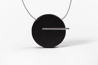 Náhrdelníky - Minimal náhrdelník (Čierna) - 11591197_