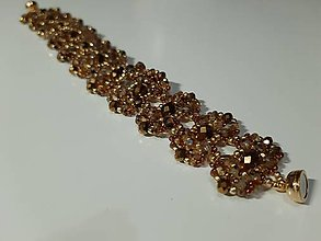 Náramky - medeno-zlatý náramok - 11592972_