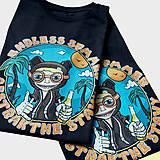 Tričká - Endless summer - čierne tričko - 11592665_