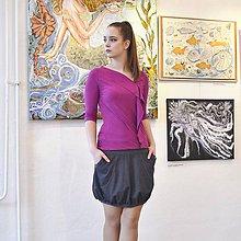 Sukne - Soft graphite - 11591460_