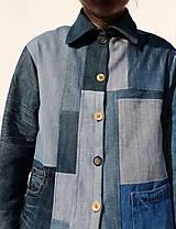 Kabáty - sešívaný/džínový - 11594740_