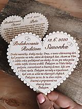 Tabuľky - Svadobné srdce 3 - Poďakovanie rodičom, malé - 11595041_