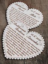 Tabuľky - Svadobné srdce 3 - Poďakovanie rodičom, malé - 11595042_