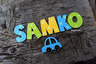 Detské doplnky - drevené písmenká - 11595481_