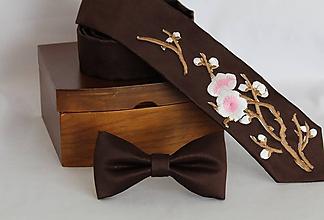Doplnky - Pánsky motýlik (Hnedá) - 11598098_