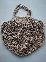 Nákupné tašky - Sieťovka béžová - 11597086_