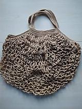 Nákupné tašky - Sieťovka béžová - 11597087_