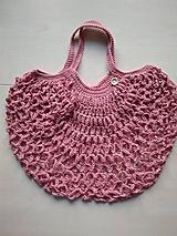 Nákupné tašky - Sieťovka ružová - 11597129_