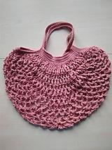 Nákupné tašky - Sieťovka ružová - 11597131_