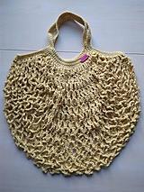 Nákupné tašky - Sieťovka žltá - 11597160_
