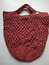 Nákupné tašky - Sieťovka bordová - 11597185_