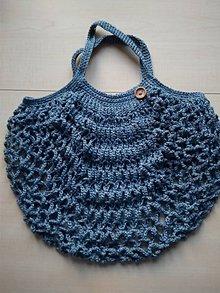 Nákupné tašky - Sieťovka modrá - 11597178_