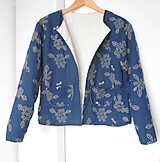Kabáty - Dámske sáčko Indigo Butterfly - 11596136_