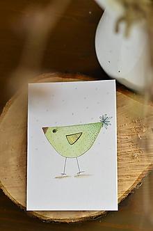 Papiernictvo - PiPi (Zelený vtáčik) - 11595285_