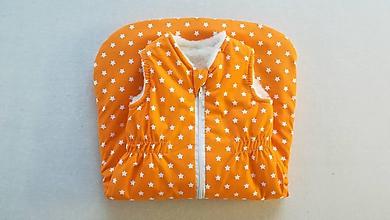 Textil - Vlnienka Spací vak pre deti a bábätká ZIMNÝ 100% MERINO S/M /L /XL /XXL /XXXL orange - 11594759_