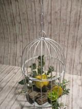 Dekorácie - Vtáčik v klietke - 11597551_