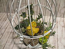 Dekorácie - Vtáčik v klietke - 11597556_