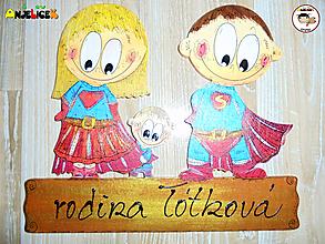Tabuľky - Menovka - super rodinka - 11594876_