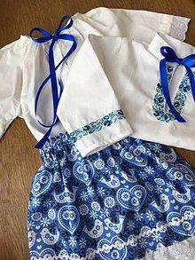 Detské oblečenie - Modry komplet - 11595326_