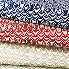 Textil - červené vlnky, 100 % bavlna Nemecko, šírka 140 cm - 11594802_