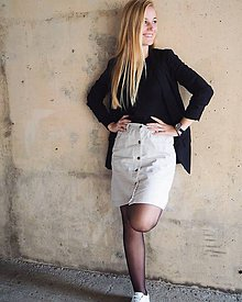 Sukne - Americká béžová sukňa - 11598029_