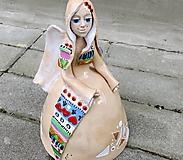 "Dekorácie - ""Aztécky anjel"" - maľovaný zvonec - 11595653_"