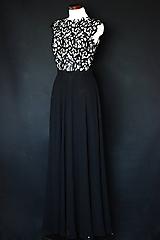 Šaty - Čierne spoločenské šaty z hrubej krajky - 11597777_