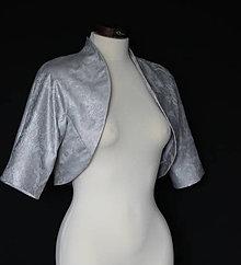 Kabáty - Spoločenské bolerko Dyona rôzne vzory a farby - 11597498_