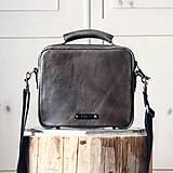 Unisex kožená taška *kaki*
