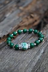 Náramky - Folklórny náramok zelený - 11597596_