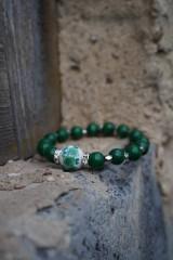 Náramky - Folklórny náramok zelený - 11597604_