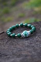 Náramky - Folklórny náramok zelený - 11597618_