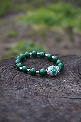 Náramky - Folklórny náramok zelený - 11597757_