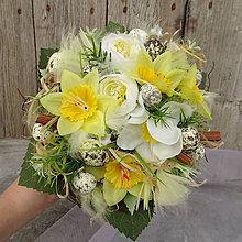Dekorácie - Velikonoční kytice Astrid - 11596332_