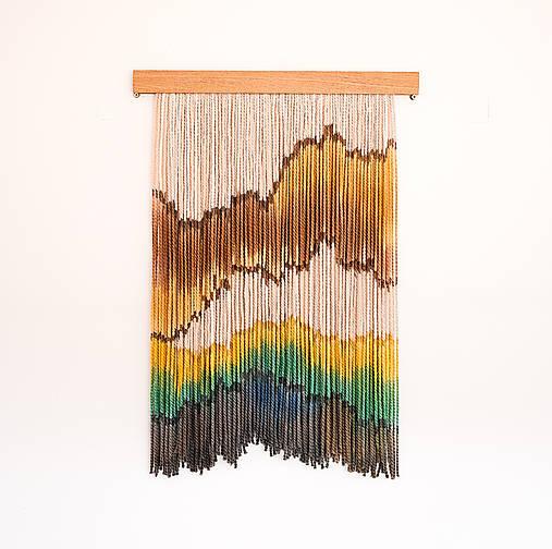"""Dekorácie - Nástenná dekorácia z dreva a vlny """"Jar v Karpatoch"""" - 11595804_"""