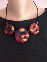 Náhrdelníky - Dutý červený náhrdeľník - 11596735_