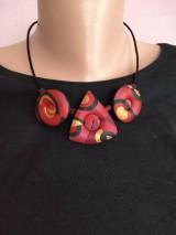 Náhrdelníky - Dutý červený náhrdeľník - 11596736_