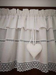 Úžitkový textil - Záclonka s krajkou - 11597287_
