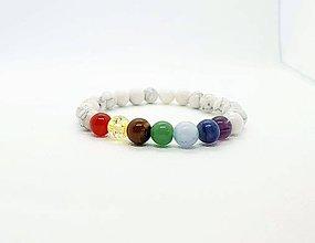Náramky - Čakrový náramok s magnezitom - 11595938_