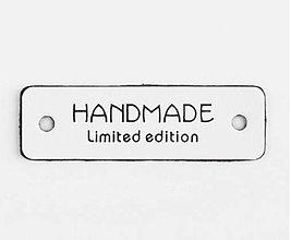 Galantéria - Koženková biela nášivka HANDMADE - limited edition - 11596899_