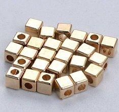 Korálky - Korálka kocka 3mm medzikus - 11597224_