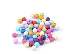 Korálky - Plastové korálky 8mm (balíček 50ks) - 11597233_
