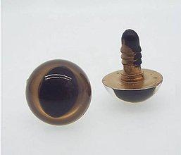 Galantéria - Mačacie očká 12mm zlaté - 11597348_