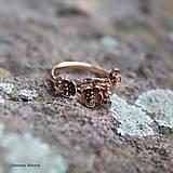 Prstene - strieborný prsteň - rozkvitnutá slivka - 11595602_
