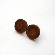 Náušnice - Drevené náušnice napichovacie - z bukovej halúzky - 11597746_