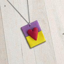 Náhrdelníky - Láska je zvláštna (FIMO šperk) - 11595129_